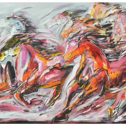 flying with the wind 2,2015,108x172cm,oil on canvas.rm19800