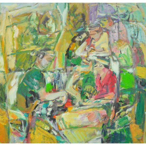 malay musician. 36x42cm.oil on canvas.rm2800