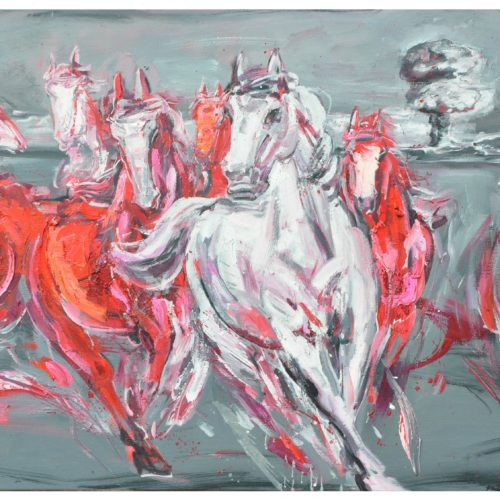 transform series-red horses1,83x138cm,oil on canvas,2015.rm10800
